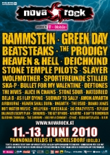 Na Nova Rock Festival 2010 bo nastopilo 42 glasbenih skupin